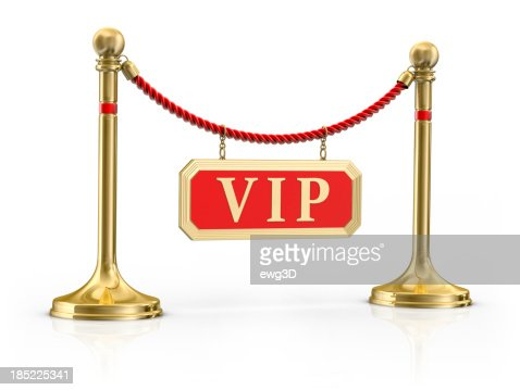Velvet Rope  with a Sign Vip