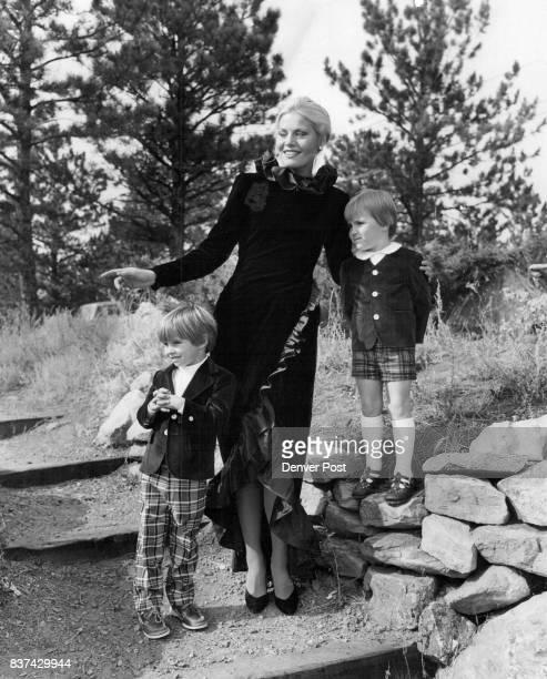 Velveteen jackets by Imp meet Bill Blass's Black velvet gown with neck skirt defined by swirls of moire ruffles Credit Denver Post
