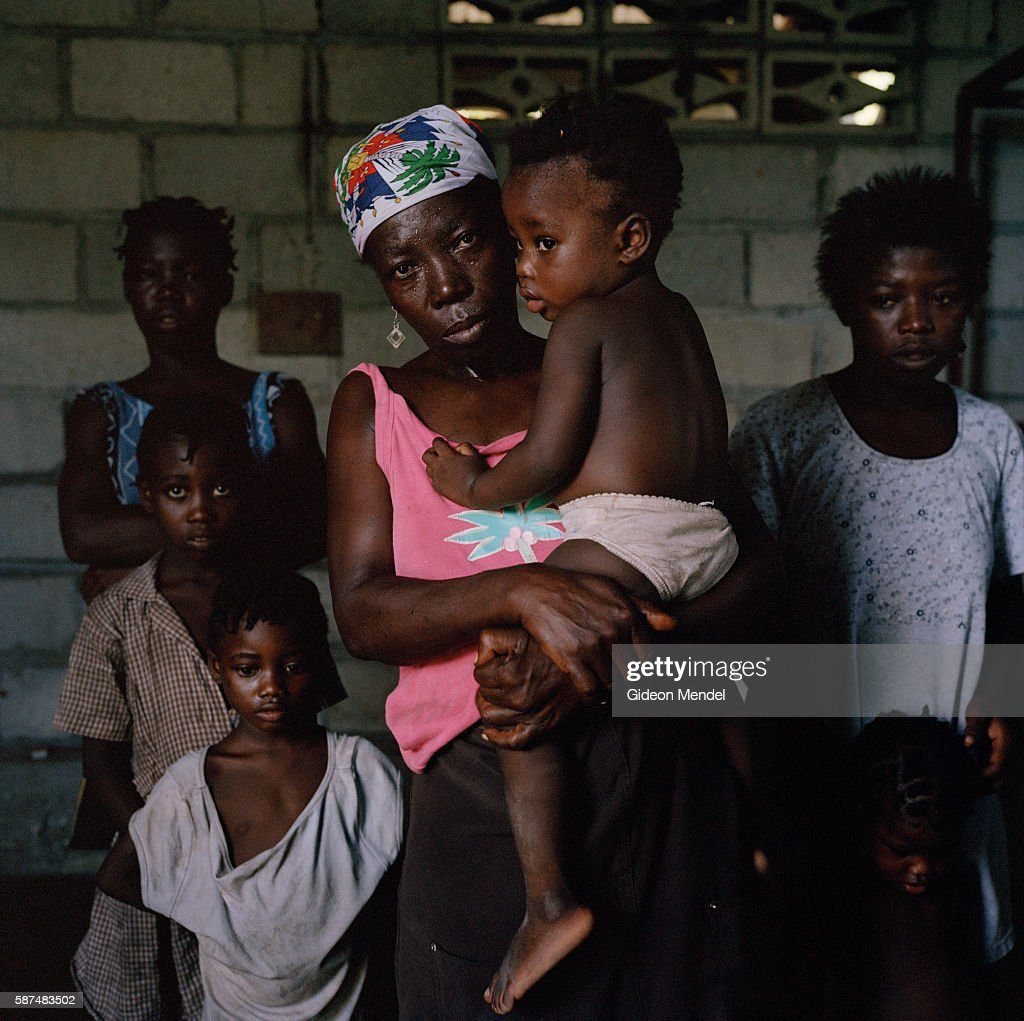 Venante Antoine and her six children are part of a group of homeless and desperate hurricane victims at a temporary shelter in Beinet in southeast...