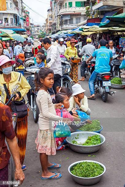 Vendor in Phnom Penh, Cambodia