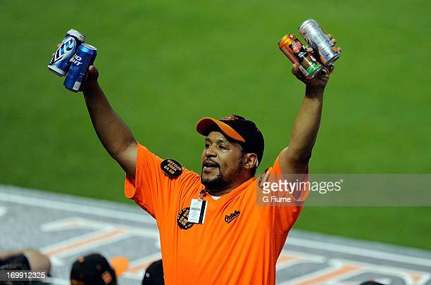 A vendor sells beer during the game between the Detroit Tigers and the Baltimore Orioles at Oriole Park at Camden Yards on May 31 2013 in Baltimore...
