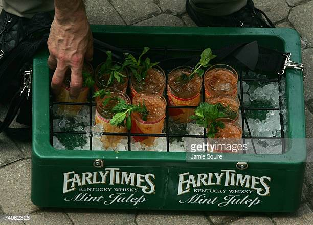 A vendor sells 'Mint Juleps' during the 133rd Kentucky Derby on May 5 2007 at Churchill Downs in Louisville Kentucky