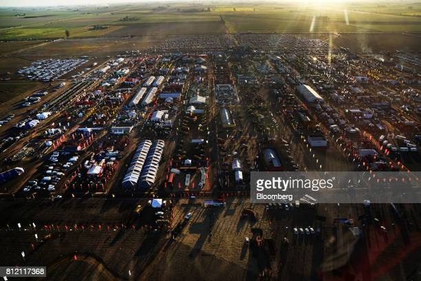 Vendor tents are seen in this aerial photograph during the AgroActiva fair above Armstrong Santa Fe Argentina on Thursday June 1 2017 YPF SA the...
