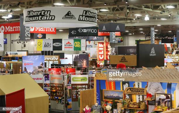 Vendors booths are seen during the Outdoor Retailer Summer Market Show in Salt Lake City Utah US on Saturday July 29 2017 Bloomberg is schedule to...