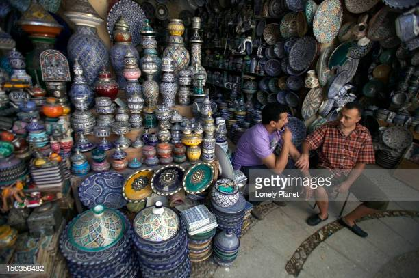 Vendors in the Henna Souk.