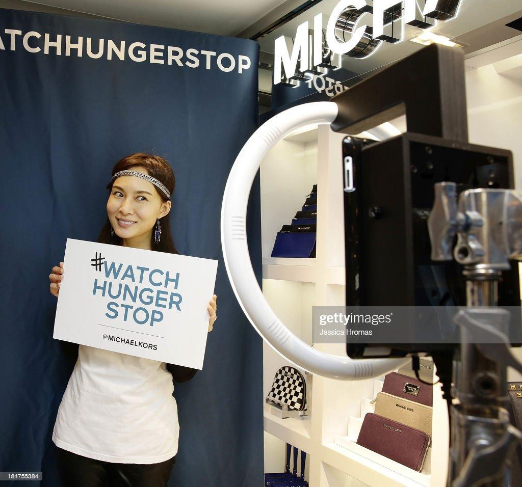 Venessa Yeung attends Michael Kors World Food Day - Hong Kong on October 16, 2013.