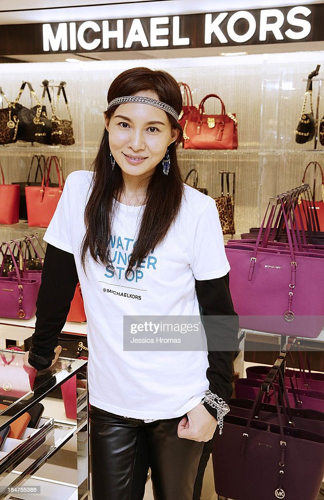 Venessa Yeung attends Michael Kors World Food Day - Hong Kong on October 16, 2013.