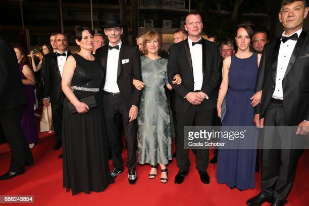 Veneta Fragnova Meinhard Neumann Valeska Grisebach Reinhardt Wetrek Vyara Borisova Syuleyman Alilov Letifov attend the 'Western' screening during the...
