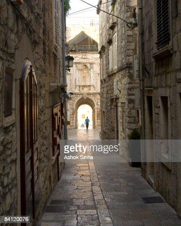 venetian architecture korcula island stock photo getty