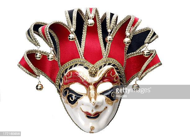 Venetian carnival mask worn at festivals in Venice, Italy