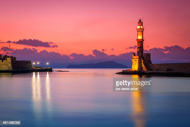 Venetian Lighthouse at Chania, Crete, Greece
