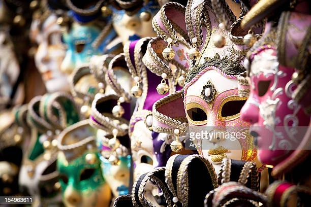 Venetian mask, selective focus