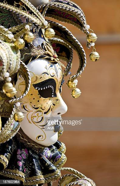 Masque vénitien, mise au point sélective