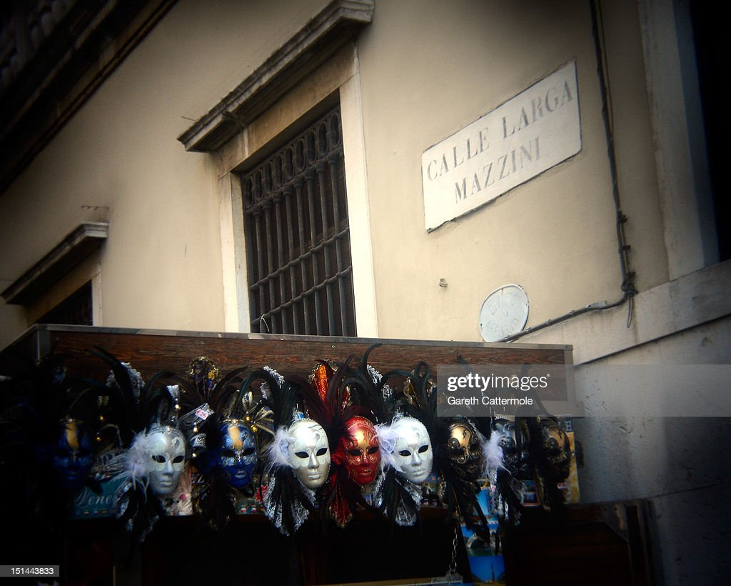 Venetian masks for sale in the backstreets of Venice during the 69th Venice Film Festival on September 7, 2012 in Venice, Italy.