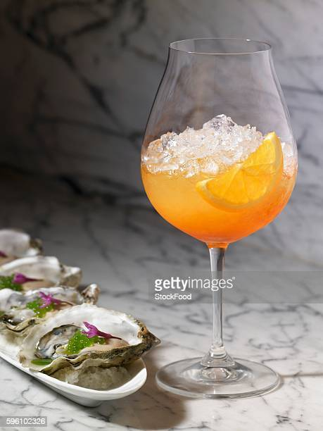 Venetian Spritz with Oysters on the Half Shell
