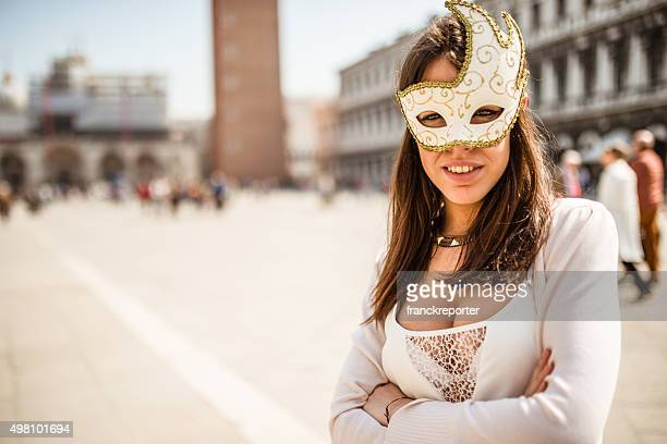 venetian woman for carnival in venice