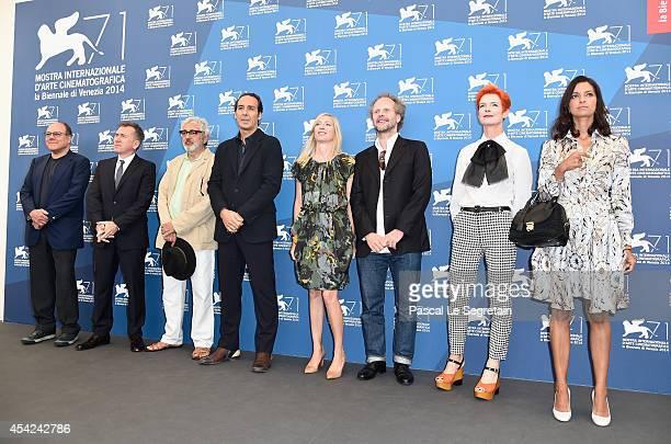 Venezia 71 jury members Carlo Verdone Tim Roth Elia Suleiman President of the Jury Alexandre Desplat Jessica Hausner Philip Groning Sandy Powell and...