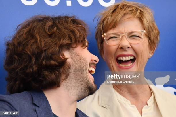 'Venezia 74' jury member Edgar Wright and president Annette Bening attend the Jury photocall during the 74th Venice Film Festival at Sala Casino on...