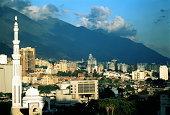 Venezuela, Caracas, view over city from Museum de Bellas Artes