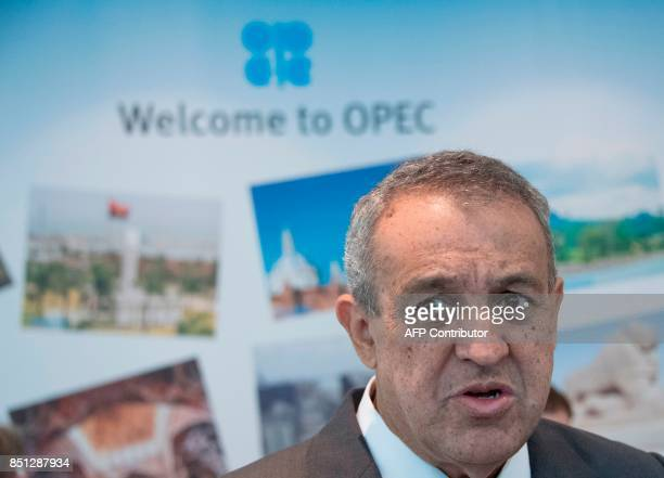 Venezuela oil minister Eulogio Del Pino arrives for the Organization of the Petroleum Exporting Countries meeting in Vienna on September 22 2017...