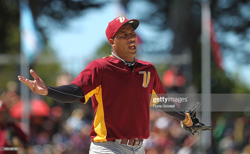 Venezuela pitcher Ramon Jones in action during the gold medal match between New Zealand and Venezuela at Tradstaff Sports Stadium on March 10, 2013 in Auckland, New Zealand.