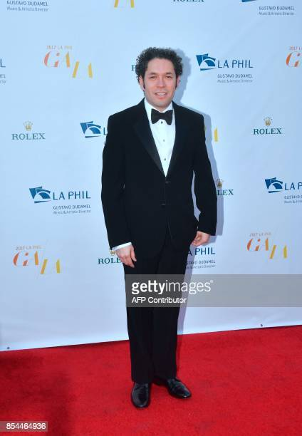 Venezuelan Conductor Gustavo Dudamel Music and Artistic Director of the Los Angeles Philharmonic arrives for the 2017/18 Opening Night Gala 'Mozart...