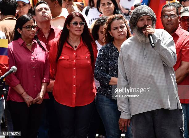 Venezuelan former Minister of Foreign Affairs Delcy Rodriguez and Venezuelan First Lady Cilia Flores and Venezuelan Minister of Popular Power for the...