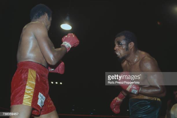 Venezuelan light heavyweight boxer Vicente Rondon pictured left in action against American boxer Eddie Jones in a WBA World Light heavyweight...