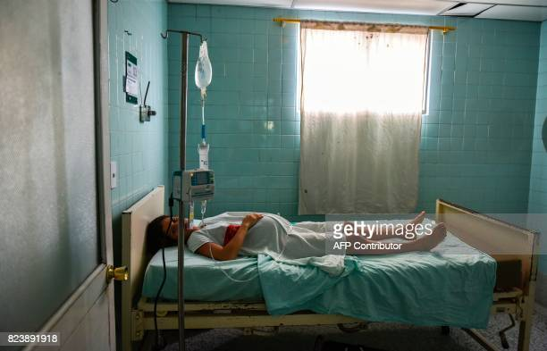 Venezuelan national Dayana Zambrano rests as she waits for her due date at the Erasmo Meoz University Hospital in Cucuta North of Santander...