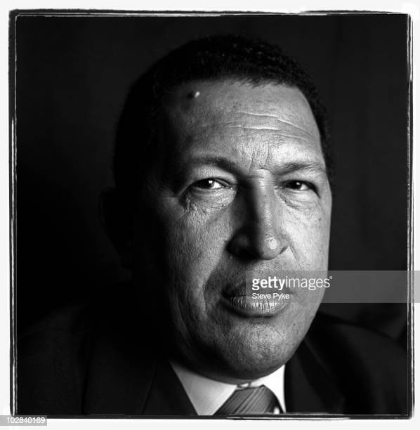 Venezuelan President Hugo Chavez poses for a portrait session in New York on September 21 2006