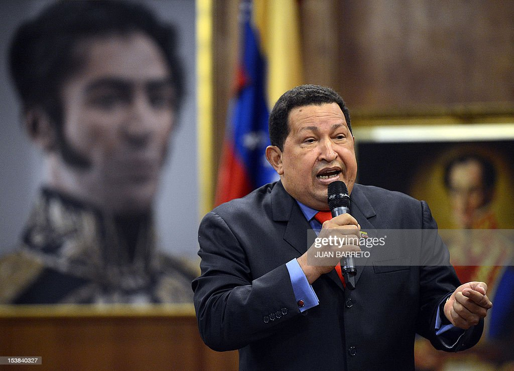 Venezuelan President Hugo Chavez speaks during a press conference in Caracas on October 9, 2012. Chavez pledged to become a 'better president' and work with the opposition after winning a tough re-election battle that betrayed simmering discontent at his socialist revolution. After almost 14 years in power, Chavez survived cancer and the most formidable opponent of his presidency, youthful business leader and former state governor Henrique Capriles, to win another six-year term.