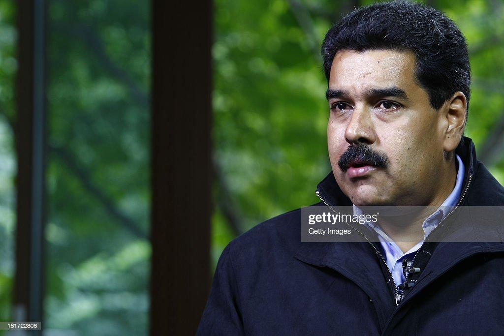 Venezuelan President Nicolas Maduro Moros Interviewed In Beijing