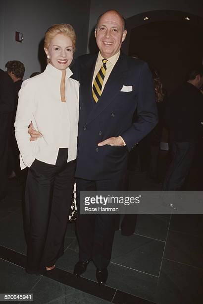VenezuelanAmerican fashion designer Carolina Herrera attending the 'Krizia' benefit exhibition at the Grey Art Gallery in New York City USA 1999