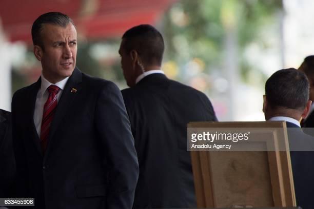 Venezuela's Vice President Tareck El Aissami attends a military parade in Caracas Venezuela on February 1 2017