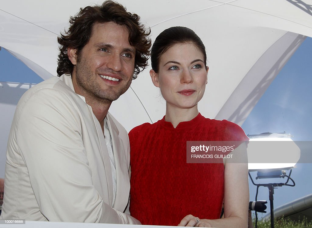 Venezuelian born actor Edgar Ramirez and Austrian actress Nora Von Waldstatten pose during the photocall of 'Carlos' presented out of competition at the 63rd Cannes Film Festival on May 20, 2010 in Cannes.
