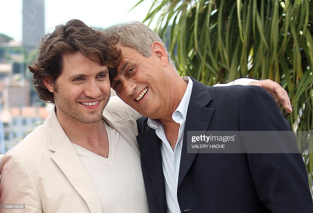 Venezuelian born actor Edgar Ramirez (L) and French producer Daniel Leconte pose during the photocall of 'Carlos' presented out of competition at the 63rd Cannes Film Festival on May 20, 2010 in Cannes.
