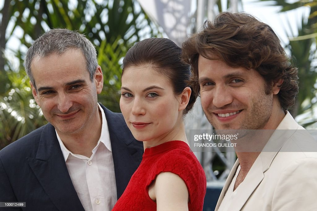 Venezuelian born actor Edgar Ramirez (R), Austrian actress Nora Von Waldstatten and French director Olivier Assayas pose during the photocall of 'Carlos' presented out of competition at the 63rd Cannes Film Festival on May 20, 2010 in Cannes.
