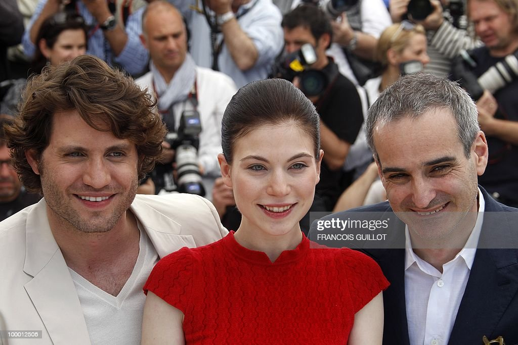 Venezuelian born actor Edgar Ramirez (L), Austrian actress Nora Von Waldstatten and French director Olivier Assayas pose during the photocall of 'Carlos' presented out of competition at the 63rd Cannes Film Festival on May 20, 2010 in Cannes.