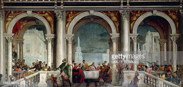 Venice Accademia Feast in the House of Levi by Paolo Caliari known as Veronese 555x1280 cm