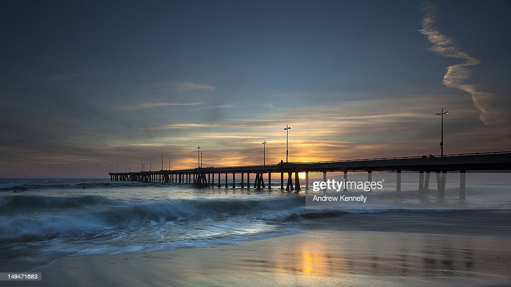 Venice Beach Pier at Sunset : Stock Photo