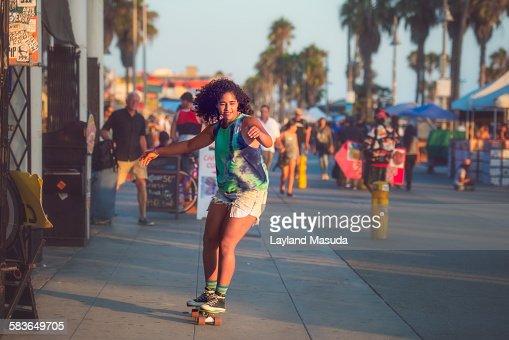 Venice Beach Skateboard Girl