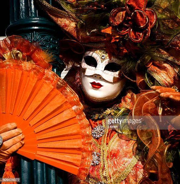 Carnevale di Venezia. Arancio primo piano.