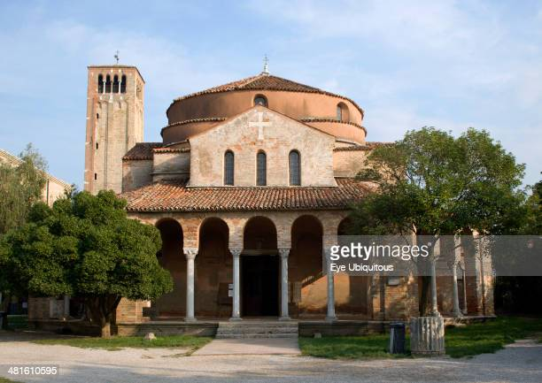 Venice Church of Santa Fosca on the deserted lagoon island of Torcello