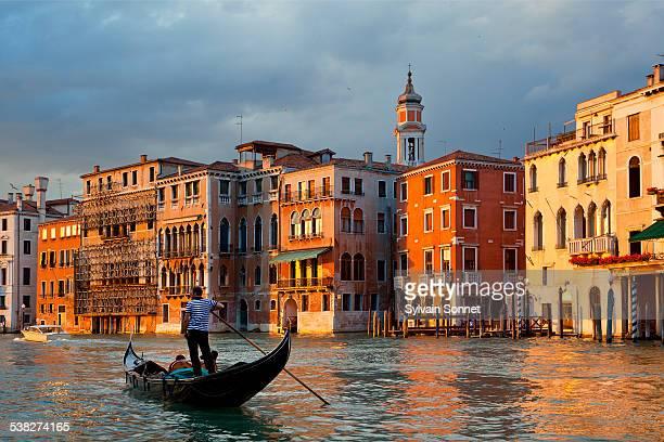 Venice, Gondola on Grand Canal