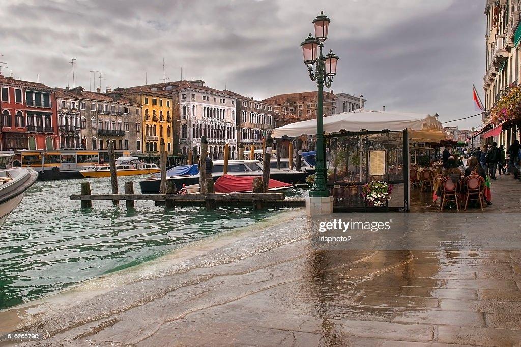 Venice in the rain : Stock Photo