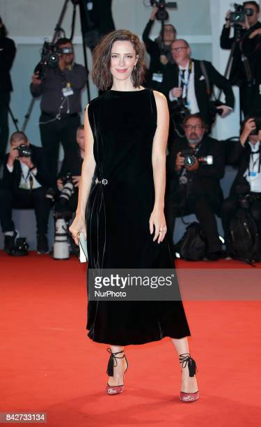 Venice Italy 04 September 2017 Rebecca Hall arrives at the red carpet of film 'Three Billboards Outside Ebbing Missouri' screening during the 74th...