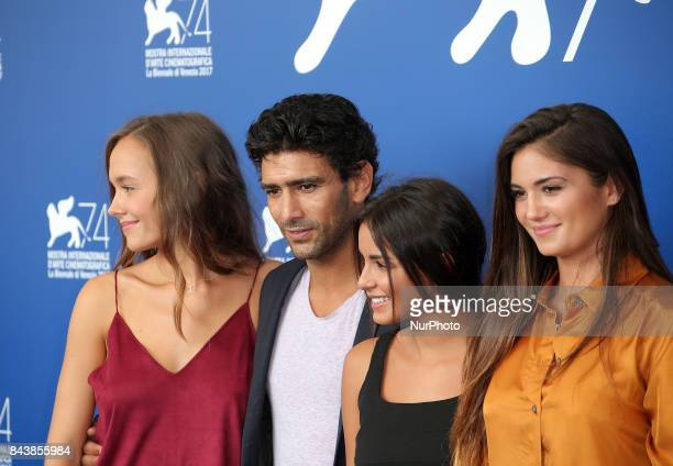 Lou Luttiau Salim Kechiouche Mel Einda and Ophelie Bau attend the 'Mektoub My Love Canto Uno' photocall during the 74th Venice Film Festival