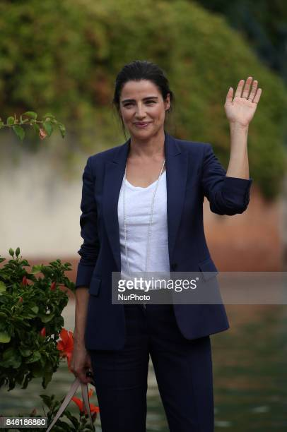 Venice Italy 07 September 2017 Luisa Ranieri leave from the Hotel Excelsior