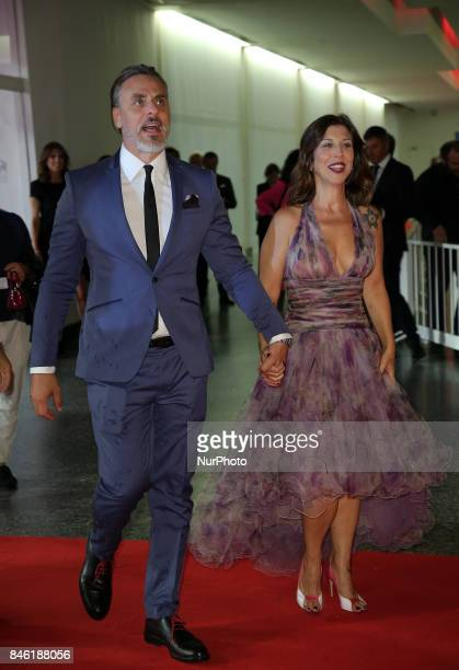 Michela Andreozzi and Massimiliano Vado walks the red carpet ahead of the 'Mektoub My Love Canto Uno' screening during the 74th Venice Film Festival