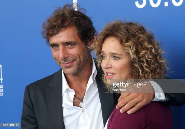 Valeria Golino and Adriano Giannini attends the 'Emma ' photocall during the 74th Venice Film Festival